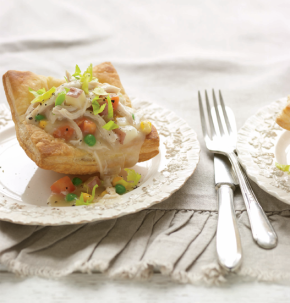 Inside-Out Chicken Pot Pies