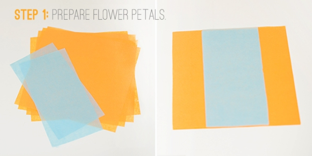 paper flowers step 1