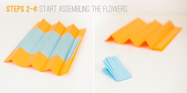paper flowers steps 2-4