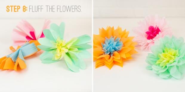 paper flowers step 8