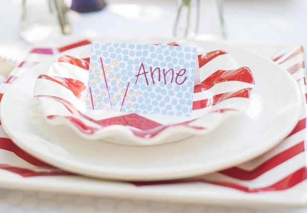 patriotic place card