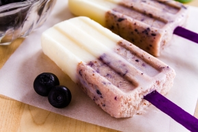 Lemon Blueberry Popsicle
