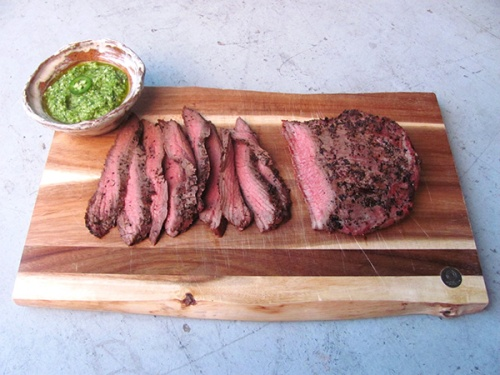 Grilled Flank Steak and Brussels Sprout Chimchuri