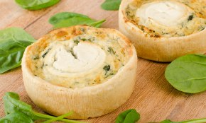 Goat Cheese & Spinach Quiche